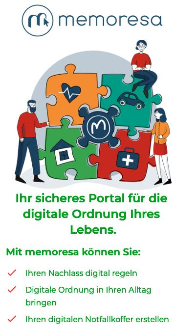Digitale Ablage und Nachlassvorsorge in Kooperation mit memoresa